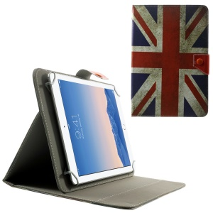 Universal Leather Flip Case for 10.1-Inch / 9.7-Inch Tablet w/ Stand , Size: 279 x 180mm - Retro Union Jack