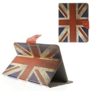 Retro Union Jack Universal Leather Shell Case for iPad mini 2 3 / Samsung Galaxy Tab T310 T330 Etc, Size: 21.5 x 14cm