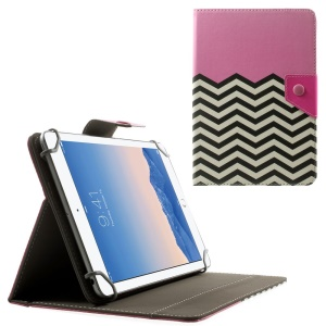 Pink Chevron Stripes Universal Leather Stand Case for Amazon Fire HD 7 / Samsung Galaxy Tab 4 7.0 T230 etc, Size: 20.3 x 14cm