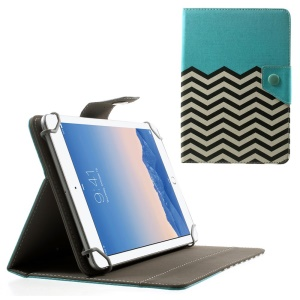 Blue Chevron Stripes Universal Leather Stand Shell for Amazon Fire HD 7 / Samsung Galaxy Tab 4 7.0 T230 etc, Size: 20.3 x 14cm