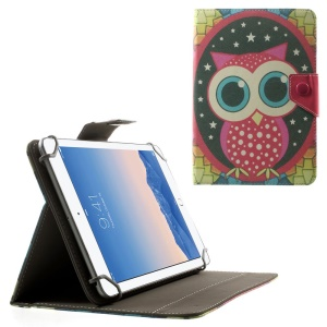 Owl & Stars Universal Leather Stand Case for Amazon Fire HD 7 / ASUS Google Nexus 7 etc, Size: 20.3 x 14cm