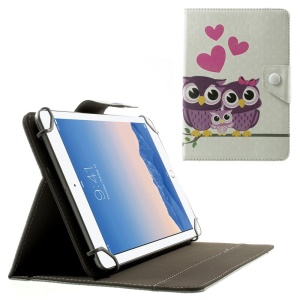 Love Owl Family Universal Leather Tablet Shell for Amazon Fire HD 7 / Samsung Galaxy Tab 4 7.0 T230 etc, Size: 20.3 x 14cm