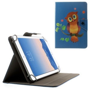 Owl on the Branch Universal Leather Case for ASUS Fonepad FE170CG / Samsung Galaxy Tab 4 7.0 T230 etc, Size: 20.3 x 14cm