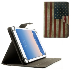 Vintage USA Flag Universal Leather Stand Cover for Amazon Fire HD 7 / Samsung Galaxy Tab 4 7.0 T230 etc, Size: 20.3 x 14cm