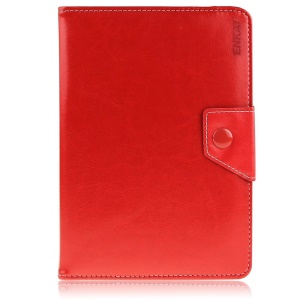 ENKAY Leather Shell for Amazon Fire HD 7 / ASUS Google Nexus 7 etc with Stand - Red Width: 10-13cm; Length: 16.5-19.5cm
