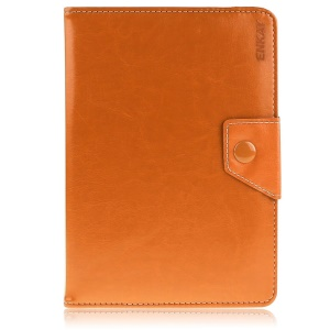 ENKAY Leather Cover for Amazon Fire HD 7 / ASUS Google Nexus 7 etc with Stand - Orange Width: 10-13cm; Length: 16.5-19.5cm