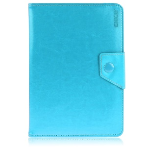 ENKAY Leather Cover for Amazon Fire HD 7 / ASUS Google Nexus 7 etc with Stand - Light Blue