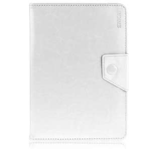 ENKAY ENK-7040 Universal Crazy Horse Leather Stand Cover for Tablet PCs, Size: 20-23.5 x 12-15cm - White
