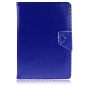 ENKAY ENK-7040 Universal Crazy Horse Leather Case Cover for Tablet PCs with Stand, Size: 20-23.5 x 12-15cm - Dark Blue