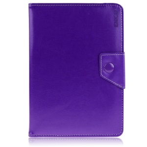 ENKAY ENK-7040 Universal Crazy Horse Leather Case Shell for Tablet PCs with Stand, Size: 20-23.5 x 12-15cm - Purple