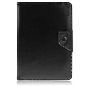 ENKAY ENK-7041 Crazy Horse Leather Case for 10-inch Tablet PCs, Size: 23.5-26 x 14-17cm - Black