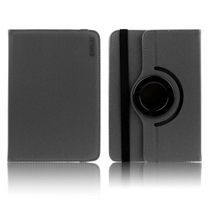ENKAY Twill Texture Rotary Stand Leather Case for 7-inch Tablet PCs , Size: 10-12.5cm x 17-19cm - Black