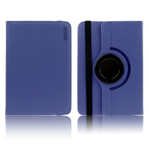 ENKAY 360 Degree Rotary Twill Leather Flip Case for 9-10 inch Tablet PCs, Size: 22.5-26.3cm x 15-18.2cm - Blue