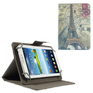 Eiffel Tower Universal Leather Cover for Amazon Fire HD 7 / Samsung Galaxy Tab 4 7.0 T230, Size: 20 x 13.5cm