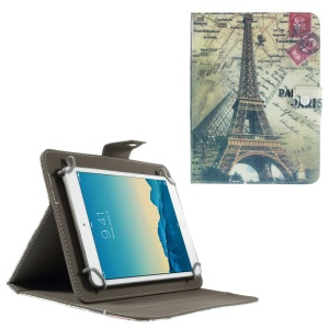 Eiffel Tower Stand Leather Shell for iPad mini 2 3 / Samsung Galaxy Tab 4 8.0 T330 etc, Size: 22 x 16.5cm