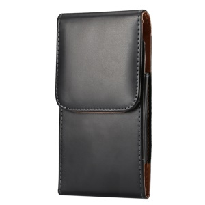 Smooth Leather Vertical Pouch Case Holster for iPhone X / 8 / 11 Pro / Samsung Galaxy S7/ S6/ Sony Xperia Z3+