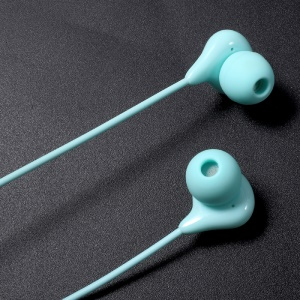 VORSON VE-008 Candy Series Universal 3.5mm Wired Headset Support Hands-free Calls for Samsung S8 etc. - Cyan