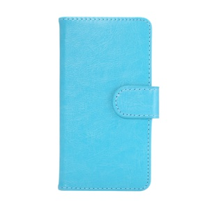 360 Degree Rotary Leather Case for iPhone 8 7 6s 6 4.7 inch / Samsung Galaxy S4 S3 - Blue