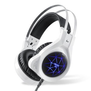 N1 Over Ear PC Gaming Headphone with Microphone LED Light - White