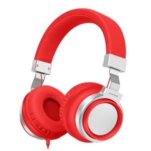 PICUN I8 3.5mm Over Ear Noise Cancelling Headphone with Microphone for iPhone Samsung - Red