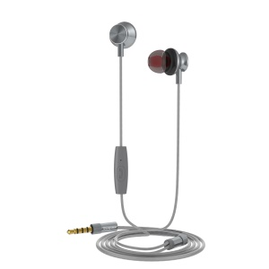 LANGSDOM M430 3.5mm Wired Earphone Support Hands-free Phone Calls for iPhone Samsung - Grey