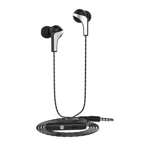 LANGSDOM R29 3.5mm In-ear Earbud Headset with Microphone for iPhone Samsung LG - Black