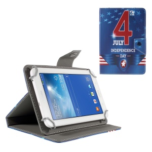 Universal Stand Leather Shell for Amazon Fire HD 7/Samsung Galaxy Tab 4 7.0 etc - Fourth of July