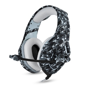 ONIKUMA K1 3.5mm Gaming Headphone Over-ear Headset with Mic LED Light for PS4/XBOX One/Laptop/PC - Camouflage Grey
