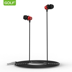 GOLF M14 In-ear Headphone with Mic for iPhone Samsung Sony Nokia Etc - Red