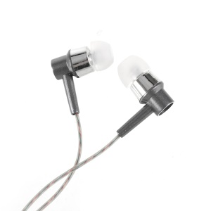 XS-001 3.5mm In-ear Headset Earphone with Mic for iPhone Samsung Huawei - Grey