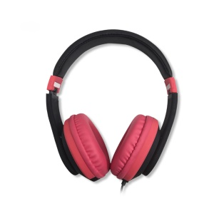 YOGEE YC341 Over Ear Foldable Wired Stereo Headphone Headset with Microphone - Rose