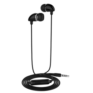 LANGSDOM JD84 3.5mm In-Ear Wired Earphone with Microphone for iPhone Samsung LG - Black