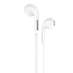 HOCO M39 Universal 3.5mm Wired Rhyme Sound Earphones with Microphone - White