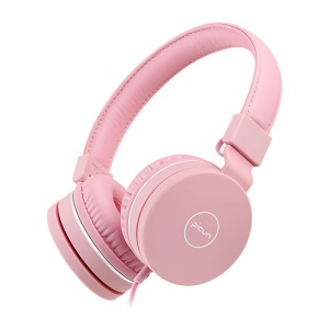 PICUN C30 Children 3.5mm Over-Ear Foldable Wired Headset - Pink