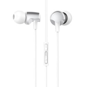 HOCO M41 Dizzy Universal 3.5mm Wired In-ear Earphone with Microphone - Silver