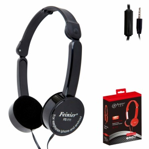 Fashion Children 3.5mm Foldable Wired Over-ear Headphone Stereo Headset with Mic - Black
