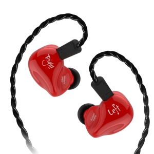 KZ ZS4 HiFi Stereo In-ear Earphone with Ear Hook Music Earbuds without Microphone (Standard Version) - Red