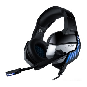 ONIKUMA K5 Pro Gaming Headset Wired PS4 Headphone with Noise Cancelling Mic for PC Laptop Xbox One - Black / Blue