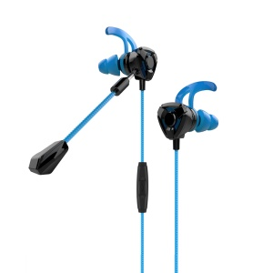 MOMAX Gaming Earbuds with Dual Mic 3.5mm In-ear Wired Earphones - Blue
