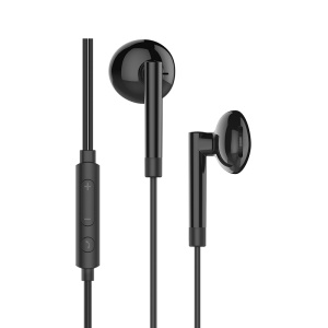 HOCO M53 Universal 3.5mm Exquisite Sound Wired Earphones with Mic - Black