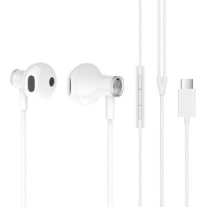 XIAOMI BRE02JY Noise Reduction Type-C Plug In-ear Earphone with Mic for Xiaomi Samsung, etc. - White