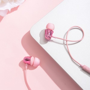 BASEUS Encok H13 Wired Control In-ear Earphone with Mic for Samsung Huawei Xiaomi - Pink