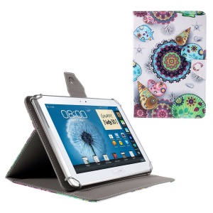 Stand Leather Case for iPad Air 2 / Sony Xperia Z4 Tablet, Size: 265x177mm - Mandala Style Ocean Scene
