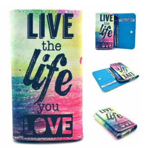 Live the Life you Love Leather Case Pouch for Samsung S6310 / Sony E1, Size: 12.2 x 6 x 1.4cm