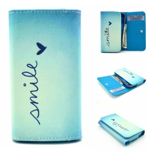 Smile & Love Universal Leather Case Sleeve for Samsung S6310 / Sony E1, Size: 12.2 x 6 x 1.4cm