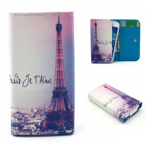 Eiffel Tower Universal Leather Pouch Sleeve for Samsung I8190 S7272 / LG E460, Size: 12.2 x 6 x 1.4cm
