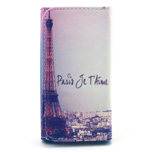 Eiffel Tower Universal Leather Case Sleeve for iPhone 4 4s / Samsung I9190 / Meizu MX2, Size: 12.7 x 6 x 1.4cm