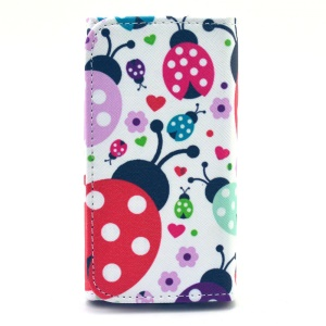Ladybugs Universal Leather Wallet Pouch for iPhone 4 4s / Samsung I9190 / Meizu MX2, Size: 12.7 x 6 x 1.4cm