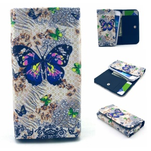 Charming Butterfly Leather Case Pouch for iPhone 6 6s / Samsung A3 S4 / LG G2, Size: 13.8 x 7 x 1.5cm