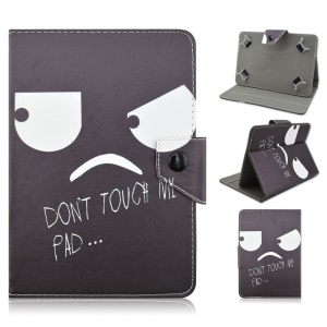 Universal Leather Cover for Samsung Galaxy Tab 3 7.0 / Tab 2 7.0 Etc - Do Not Touch My Pad and Strabismus Expression